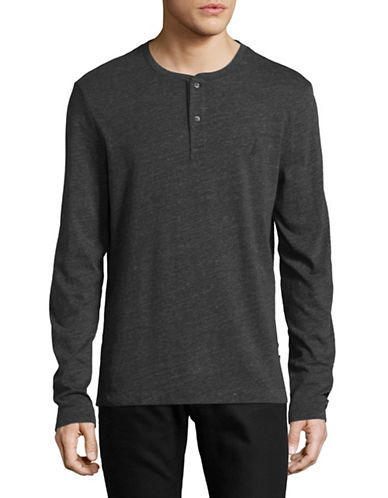 Nautica Pigment-Dyed Jersey Henley-BLACK-Small