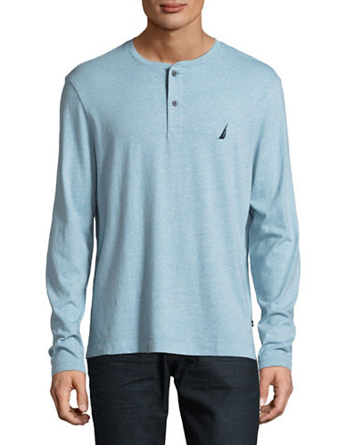 Nautica Jersey Henley-BLUE-Small