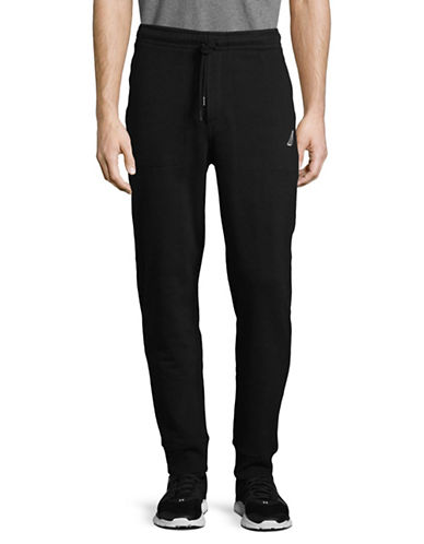 Nautica Fleece Joggers-BLACK-Large