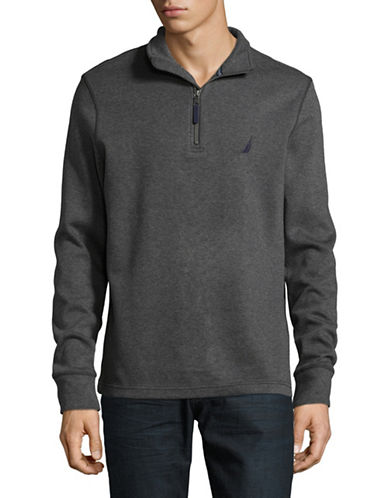 Nautica Long Sleeve Cotton Pullover-GREY-XX-Large