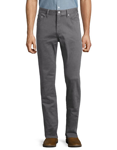 Nautica Stretch-Twill Straight-Leg Pants-GREY-36X32