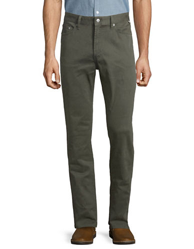 Nautica Stretch-Twill Straight-Leg Pants-GREEN-36X32