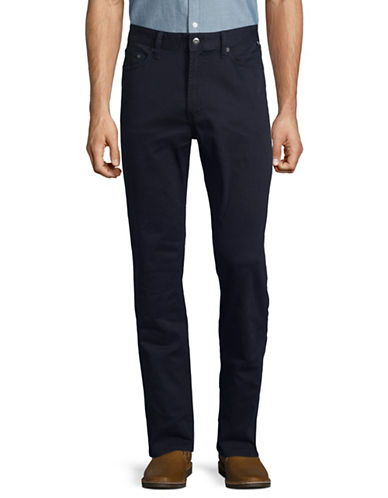 Nautica Stretch-Twill Straight-Leg Pants-NAVY-32X32
