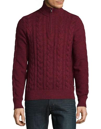 Nautica Cotton Knit Sweater-RED-Medium