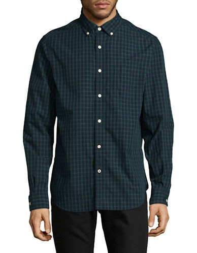 Nautica Classic-Fit Gradient Check Sport Shirt-MARTIME NAVY-X-Large