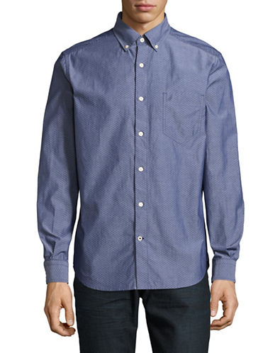Nautica Solid Sport Shirt-MARINE BLUE-Large