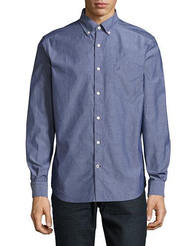 Nautica Solid Sport Shirt-MARINE BLUE-XX-Large