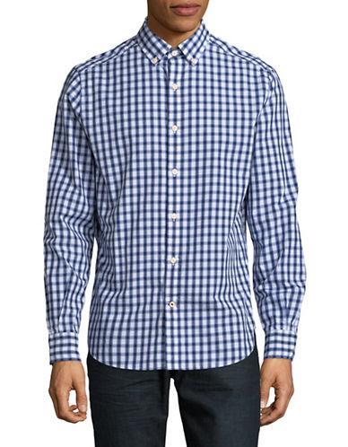 Nautica Gingham Sportshirt-BLUE-Medium