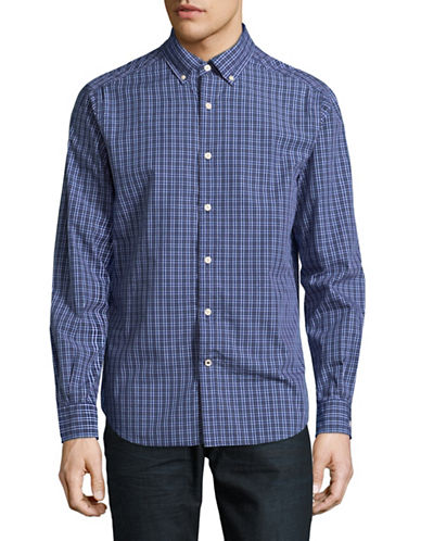 Nautica Check Gingham Shirt-ESTATE BLUE-Large