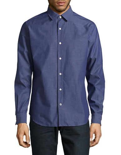 Nautica Classic-Fit Speckle Sport Shirt-NAVY-Medium