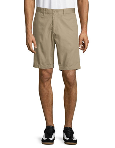 Nautica Flat-Front Cotton Shorts-BEIGE-38