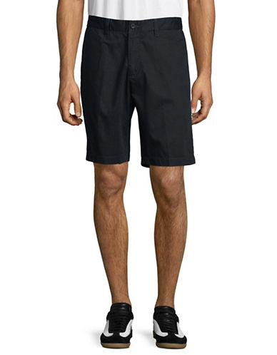 Nautica Flat-Front Cotton Shorts-TRUE NAVY-32