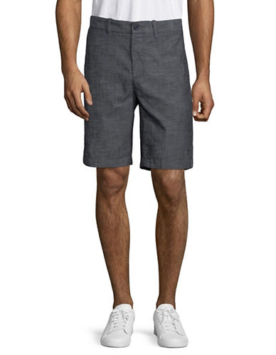 Nautica Cotton Chambray Shorts-BLUE-40