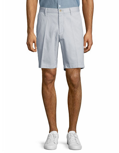Nautica Cotton Twill Flat Front Shorts-GREY-42