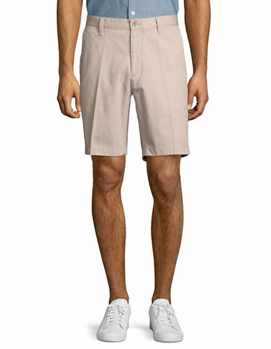 Nautica Cotton Twill Flat Front Shorts-BEIGE-38