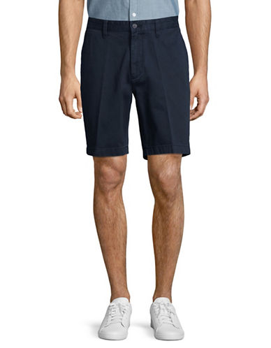 Nautica Classic Flat Front Cotton Shorts-BLUE-32