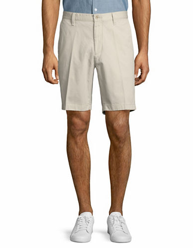 Nautica Classic Flat Front Cotton Shorts-NATURAL-36