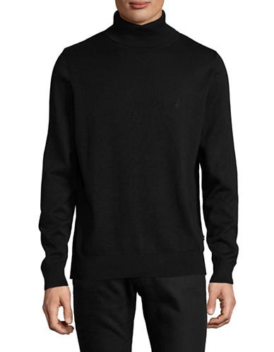 Nautica Basic Turtleneck-BLACK-Medium