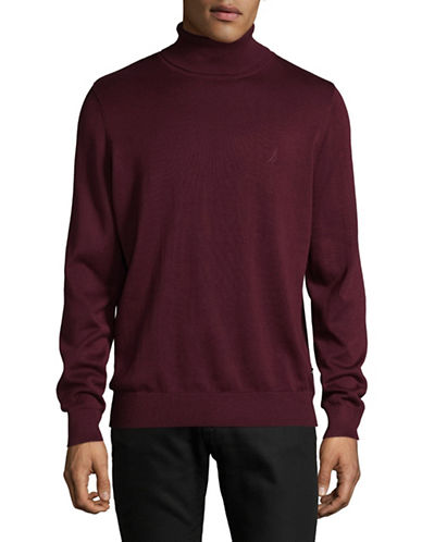 Nautica Basic Turtleneck-ROYAL BURGUNDY-X-Large