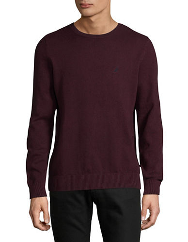 Nautica Crew Neck Cotton Sweatshirt-RED-X-Large