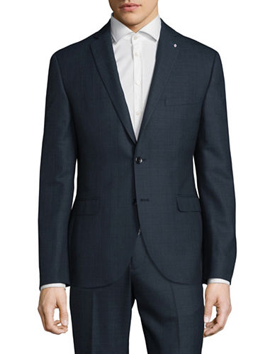 Lambretta Slim Fit Suit Jacket-BLUE-36 Regular