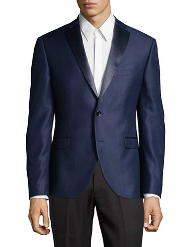 Lambretta Slim-Fit Suit Blazer-BLUE-42 Regular