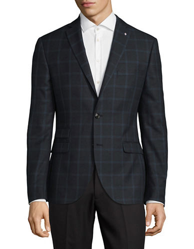 Lambretta Plaid Suit Jacket-NAVY-40 Regular