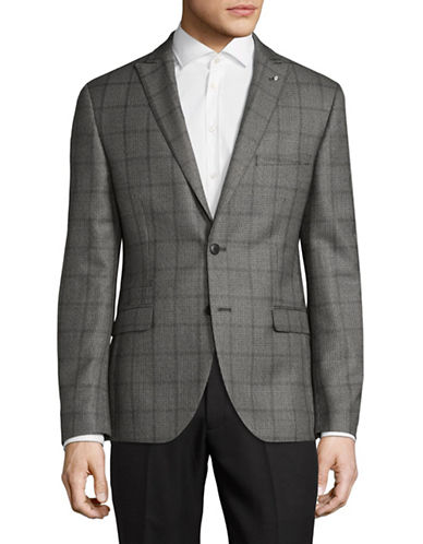 Lambretta Slim Fit Suit Jacket-GREY-40 Short