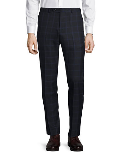 Lambretta Plaid Suit Pants-NAVY-38X34