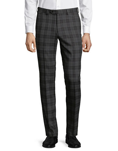 Lambretta Plaid Suit Pants-GREY-36X32
