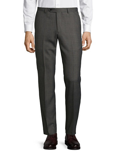 Lambretta Plaid Suit Pant-CHARCOAL-38X34