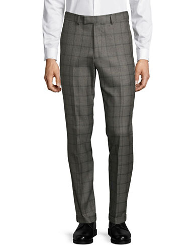 Lambretta Houndstooth Check Pants-GREY-34X30