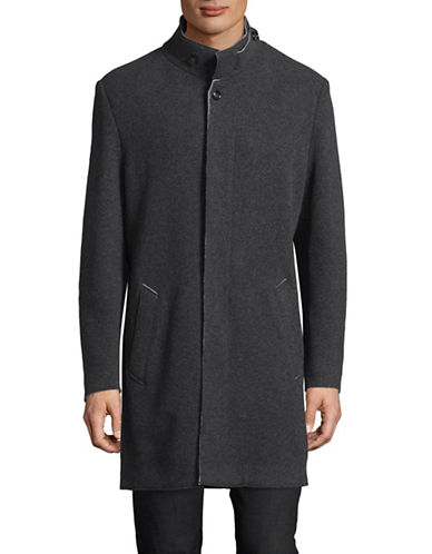 Bugatti Wool-Blend Coat-GREY-44