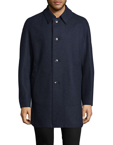 Bugatti Wool-Blend Overcoat-BLUE-38