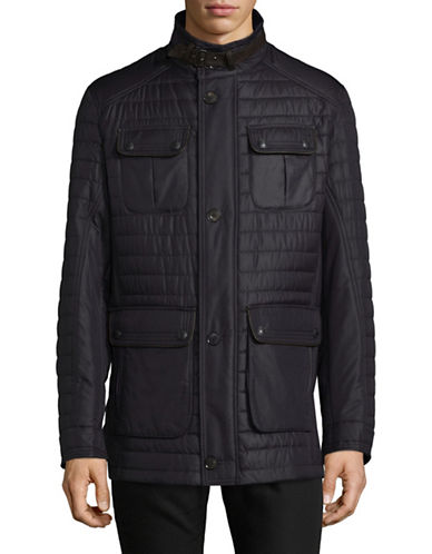 Bugatti Quilted Field Jacket-BLUE-42