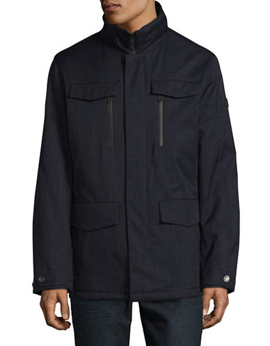 Bugatti Mock Neck Jacket-BLUE-40