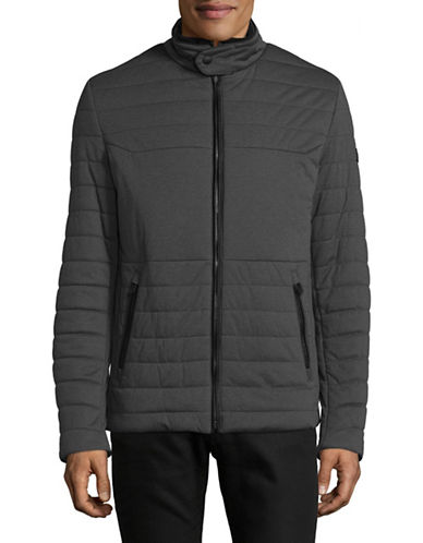 Bugatti Quilted Zip Jacket-GREY-40