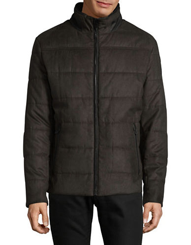Bugatti Quilted Twill Jacket-BROWN-38