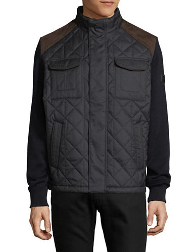 Bugatti Quilted Wool-Blend Jacket-BLUE-Large 89398850_BLUE_Large