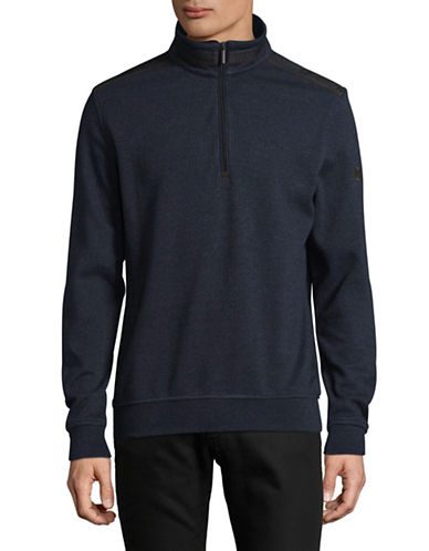 Bugatti Stand Collar Sweatshirt-BLUE-Large