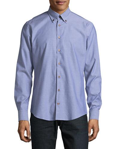 Bugatti Woven Sport Shirt-BLUE-Large