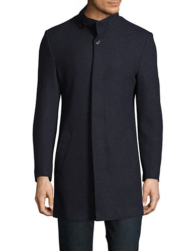 Bugatti Wool-Cashmere Coat-BLUE-42