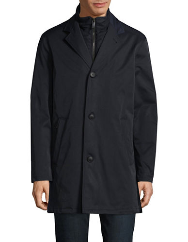 Bugatti Water-Repellent Rain Coat-BLUE-36