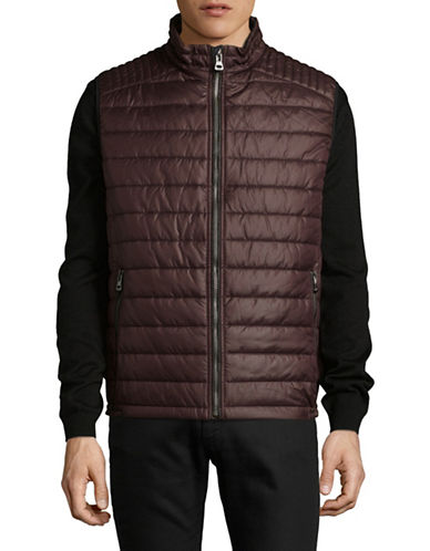 Bugatti Quilted Vest-RED-Medium