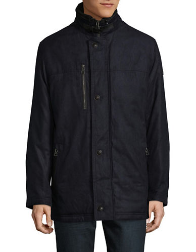 Bugatti Quilted Back Jacket-BLUE-40