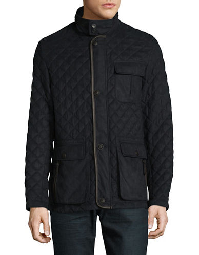 Bugatti Quilted Utility Jacket-BLUE-40
