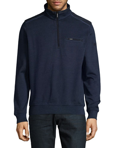 Bugatti Knit Pullover-BLUE-XX-Large
