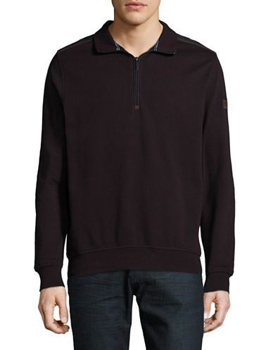 Bugatti Stand Collar Sweatshirt-RED-Small