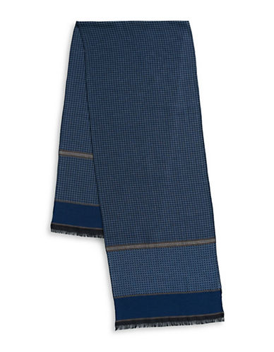 Bugatti Patterned Scarf-BLUE-One Size