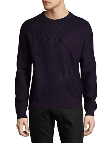 Bugatti Versatile Wool-Blend Sweatshirt-PURPLE-Small